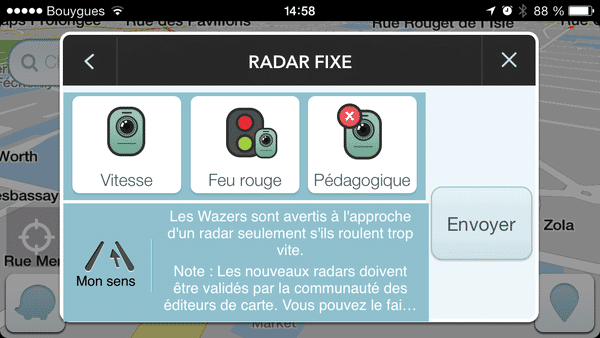 retrouver les radars sur waze xy mag podcloud. Black Bedroom Furniture Sets. Home Design Ideas