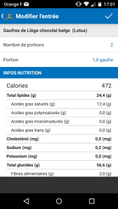 Apport nutritionnel