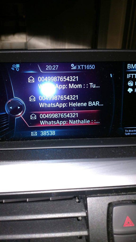 Idrive avec Whatsapp